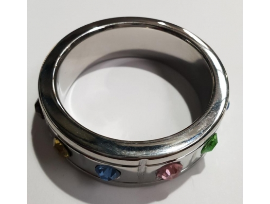 Jewelled Brick Steel Cock Ring