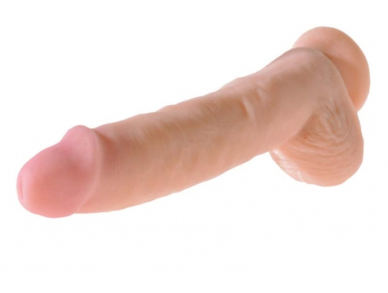 King Cock Dual Density Fat Cock with Balls 10 Inch