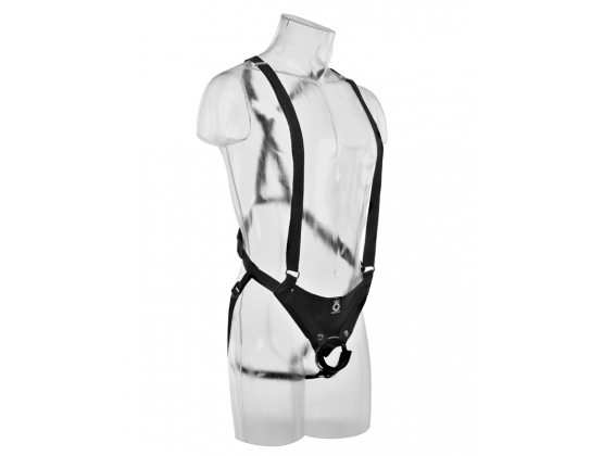 "King Cock 12"" Hollow Strap-On Suspender"