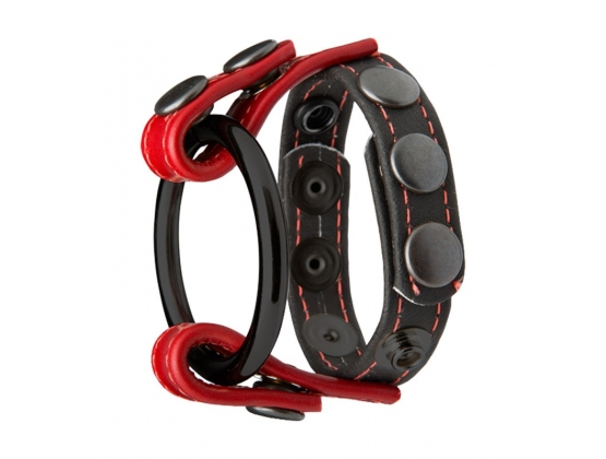 Kink Cock and Ball Masters Rings Black and Red