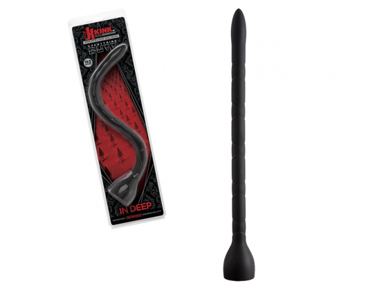 Kink in Deep Silicone Anal Snake Black