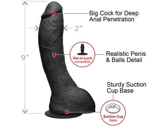 Kink The Perfect P-Spot Cock Black