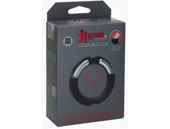 Kink Silicone-Covered Metal Cock Ring