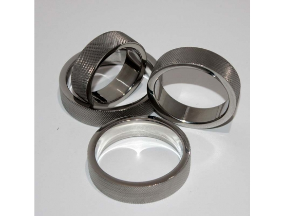 Knurled Surface Steel Cock Ring 15mm Thick Band