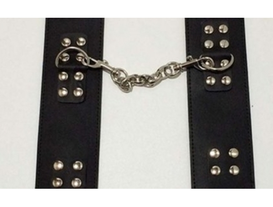 MG Leather Wrist/Ankle Cuffs with Buckle Black