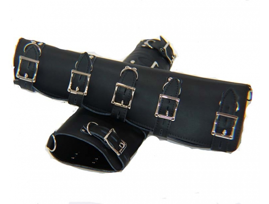 Leather Arm Splints with Locking Buckles
