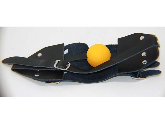 Leather Muzzle with Ball Gag
