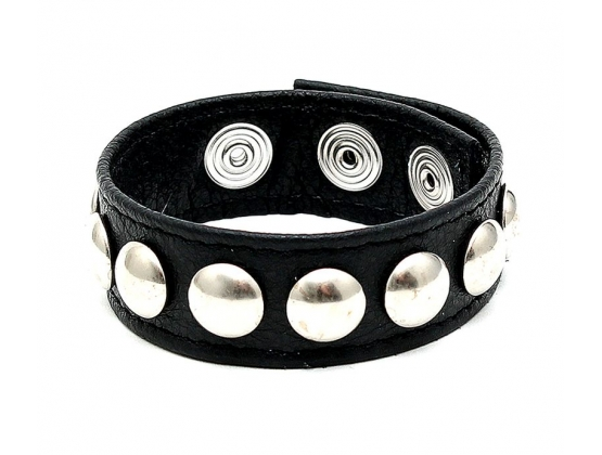 Leatheretc Studded Snap Lock Cock Ring