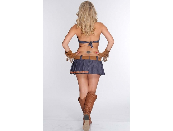 3 Piece Pin Up Cowgirl Costume