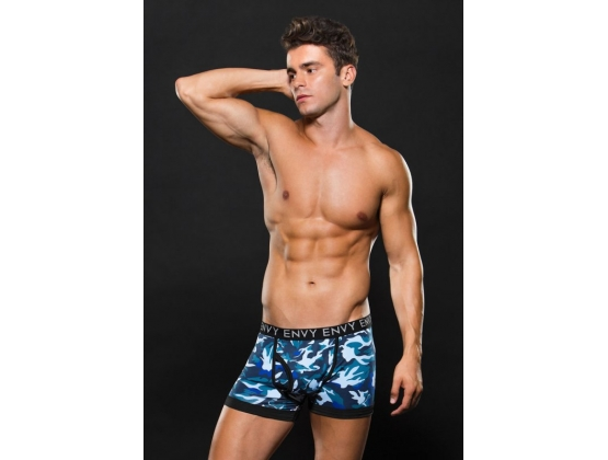 Logo Elastic Boxer Brief Blue Camo