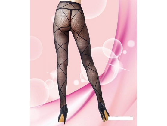 Madison Fishnet Pantyhose with Criss Cross Design