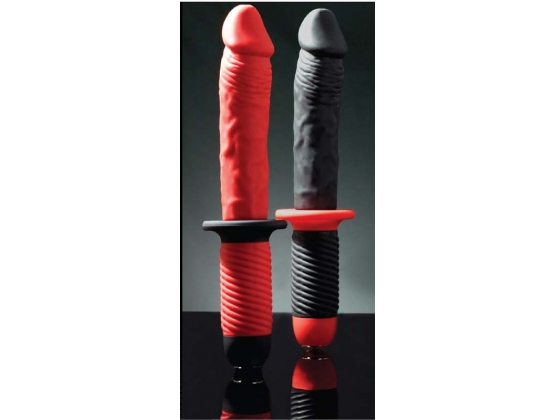 Mr. E and Mr. Z 7 Inch Silicone 10 Speed Vibrator Red