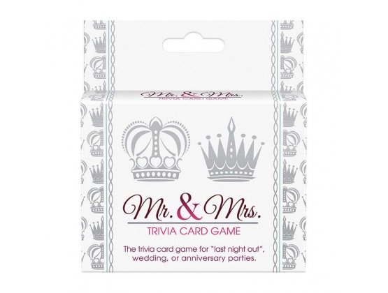 Mr and Mrs Trivia Card Game