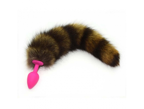 Silicone Butt Plug With Fox Tail Medium
