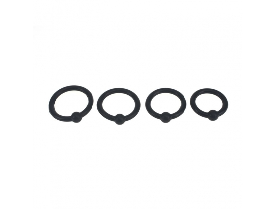 4 Piece Silicone Cock Head Ring Set
