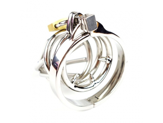 Cock Ring Chastity Device with Catheter Tube