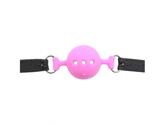 Full Silicone Breathable Ball Gag - Pink
