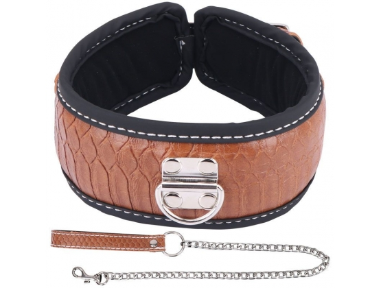 Colorful BDSM Collar With Lead