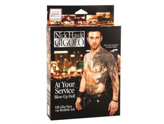 Nick Hawk GIGOLO At Your Service Blow-Up Doll