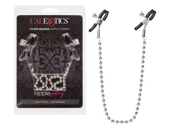 Nipple Play Silver Beaded Nipple Clamps