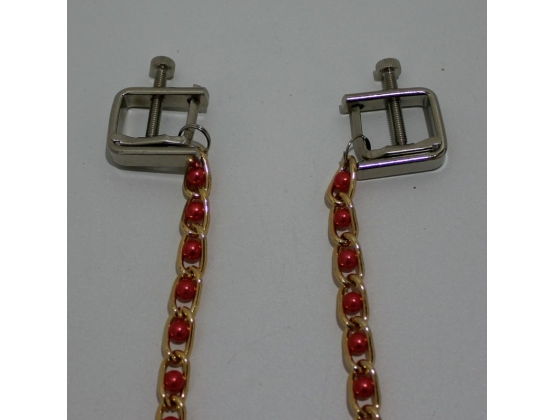 Rosie Nipple Vices with Gold Chain