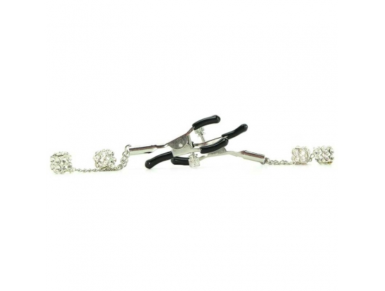 Ornament Adjustable Nipple Clamps With Jewel Accents
