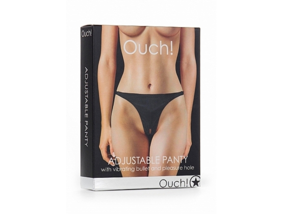 Ouch! Adjustable Vibrating Panty Black