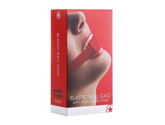 Ouch! Elastic Ball Gag Red