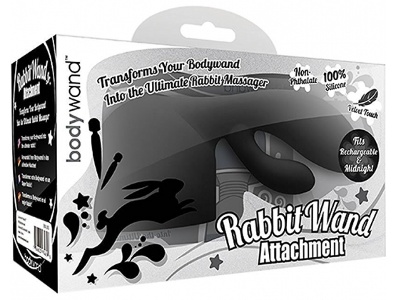 Bodywand Rechargeable Midnight Rabbit Wand Attachment