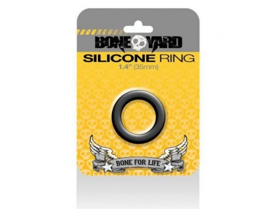 Boneyard Silicone Ring Black 35MM