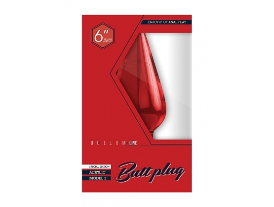 Bottom Line Acrylic Butt Plug Model 2 Red