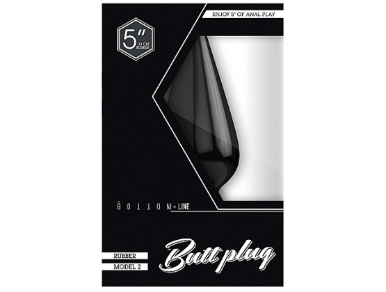 Bottom Line Rubber Butt Plug Black Model 2
