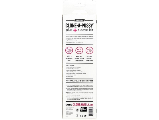 Clone-A-Pussy Plus+ Silicone Casting Kit with Sleeve Hot Pink