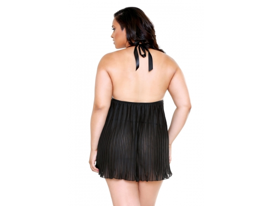 CURVE Pleated Lace Cup Chemise & G-String
