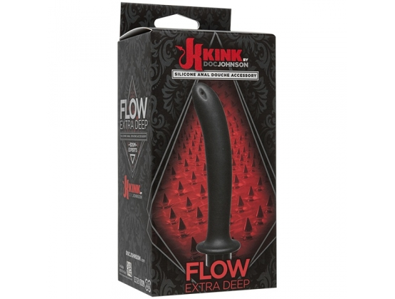 Kink Flow Silicone Anal Douche Accessory Extra Deep Black
