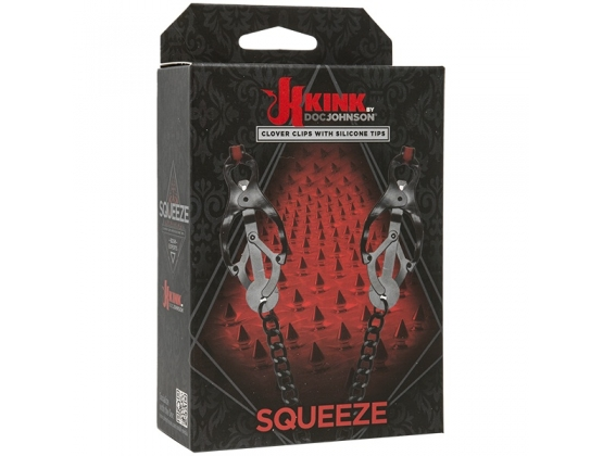 Kink Squeeze Clover Clips with Silicone Tips