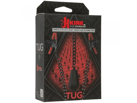 Kink Tug Nipple Clips with Heavy Weight and Silicone Tips