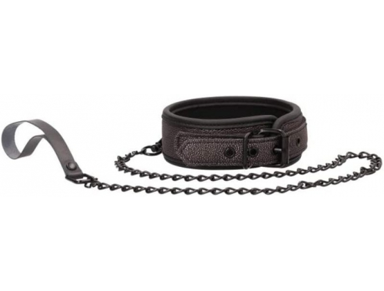 Ouch! Elegant Collar with Leash
