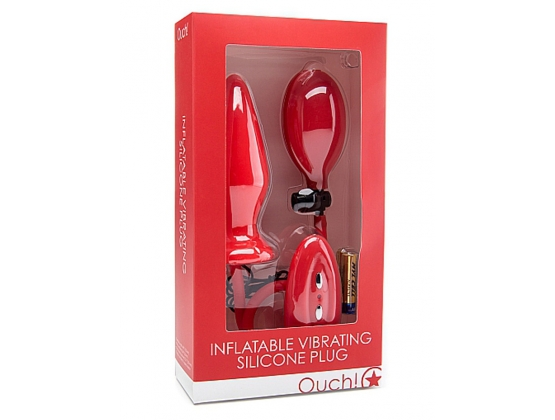 Ouch! Inflatable Vibrating Silicone Plug