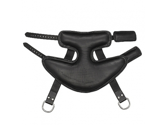 Pain Wrap-Around Leather Suspension Ankle Cuffs