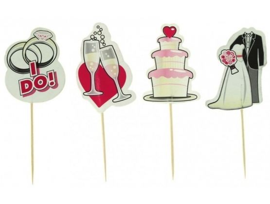 Party Picks Bridal Toothpick Toppers