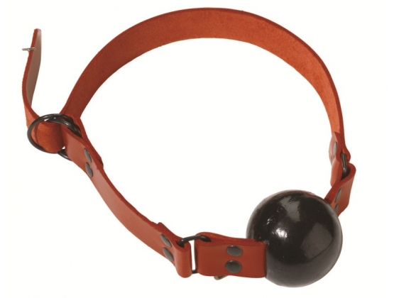 Spartacus Red Rubber Ball Gag with D Ring Closure Large