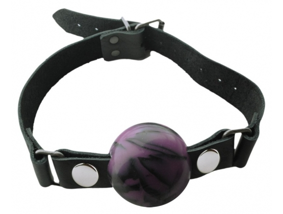 Spartacus Silicone Swirl Ball Gag with Buckle Closure