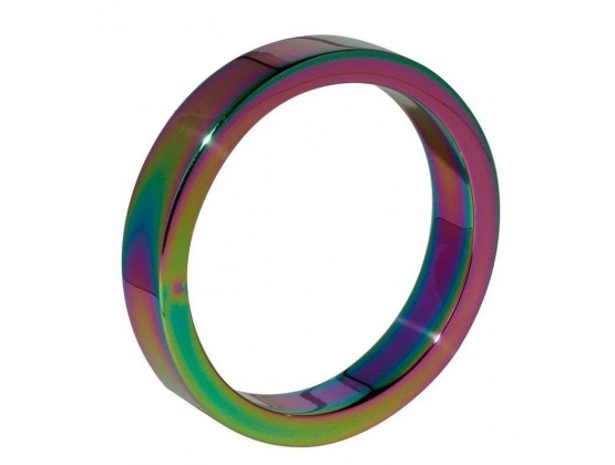 Rainbow Cock Ring Steel 6MM