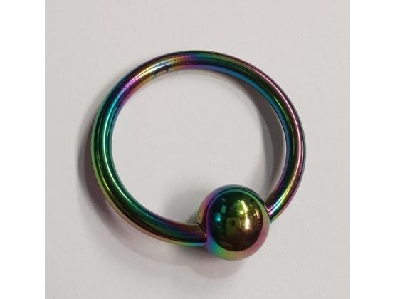 Rainbow Penis Head Glans Ring with Ball