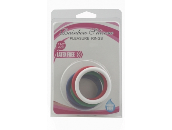Rainbow SIlicone Pleasure Rings 5 pack