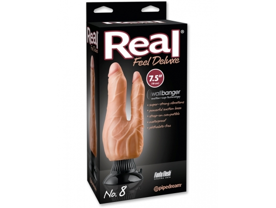 Real Feel Deluxe No. 8 Double Penetrator Flesh
