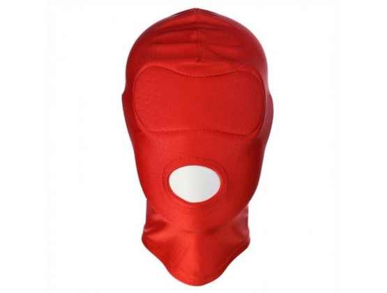 Spandex Open Mouth Hood With Padded Blindfold