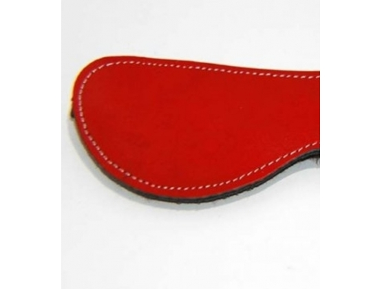 Fur Lined Leather Blindfold Red