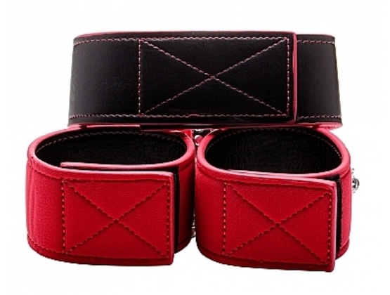 Reversible Collar and Wrist Cuffs Red